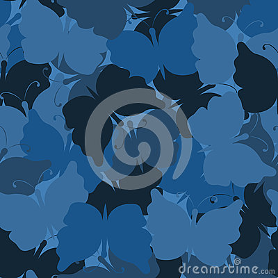 Free Butterfly Camouflage Seamless Vector Pattern Royalty Free Stock Photos - 72848808