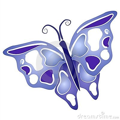 Butterfly Clip Art Blue Wings