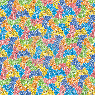 Butterfly Colorful pattern hand drawn