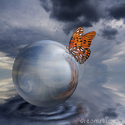 Butterfly on Crystal Ball