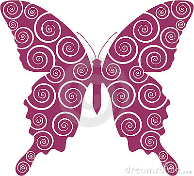 Free Butterfly Curl 03 Royalty Free Stock Photos - 12172208