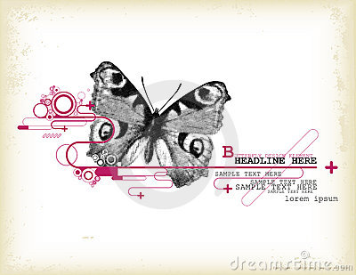 Butterfly Design Element Royalty Free Stock Images - Image: 9323859