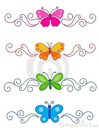 Free Butterfly Divider Royalty Free Stock Photography - 24222837