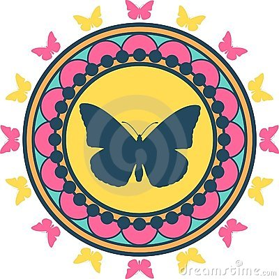 Butterfly Emblem Illustration