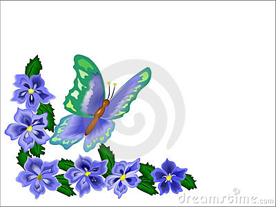 Butterfly Flower Border