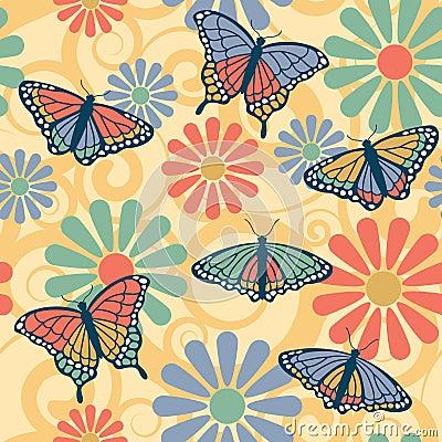 Free Butterfly Flower Pattern Stock Photo - 5490170