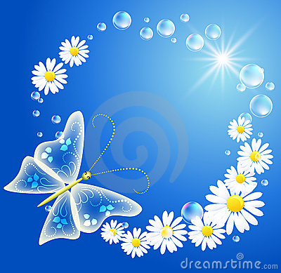 Butterfly And Flowers Stock Images - Image: 21853664