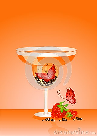 Butterfly in a glass