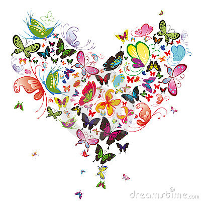 Free Butterfly Heart Royalty Free Stock Photo - 19166725