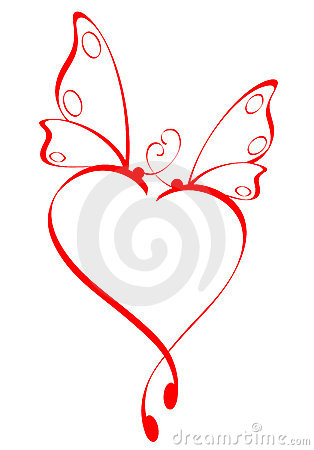 Free Butterfly Heart Stock Images - 4324004