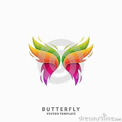 Butterfly Illustration Vector Template Vector Illustration