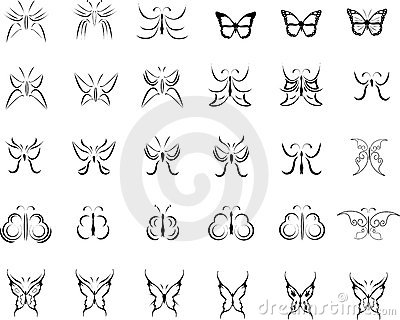 Butterfly illustrations collection