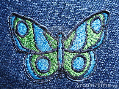 Butterfly on jeans