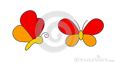 Butterfly Logo Stock Photo - Image: 9972620