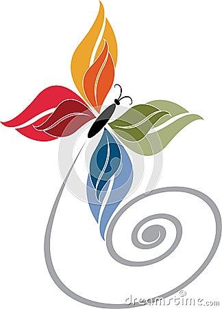 Butterfly logo Vector Illustration