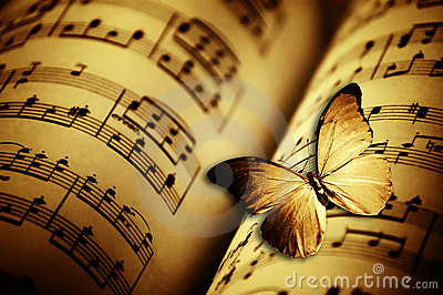 Butterfly and music