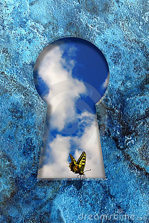 Free Butterfly On A Keyhole Royalty Free Stock Images - 15942849