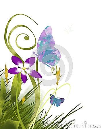 Butterfly Paint Garden