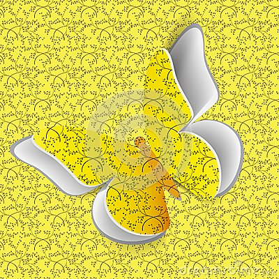 Butterfly on seamless pattern