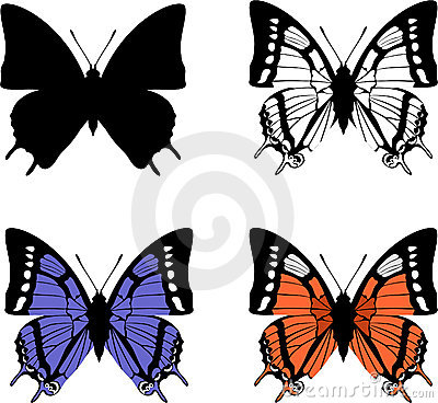 Free Butterfly Set 04 Stock Photography - 12203592