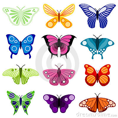 Free Butterfly Set Royalty Free Stock Image - 10325426