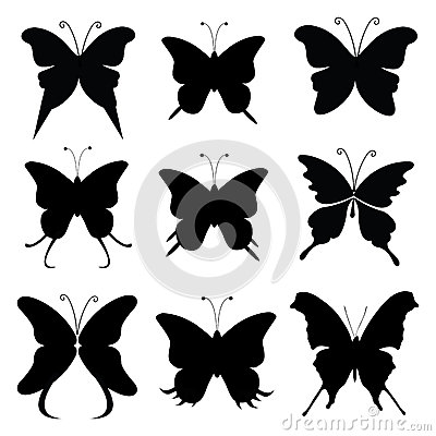 Free Butterfly Silhouette Royalty Free Stock Image - 32899046