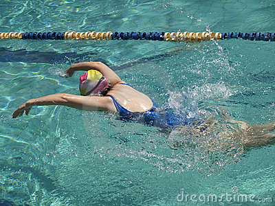 Butterfly stroke downwards