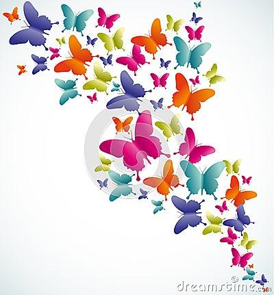 Butterfly summer splash Vector Illustration