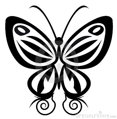 Butterfly tattoo Stock Photo