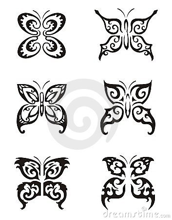 Butterfly Tattoo Series Vector