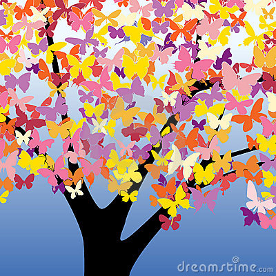Free Butterfly Tree Royalty Free Stock Photos - 14992108