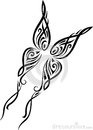 Butterfly tribal pattern