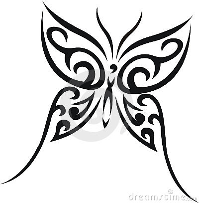 Butterfly tribal tattoo
