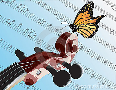 Butterfly on Violin