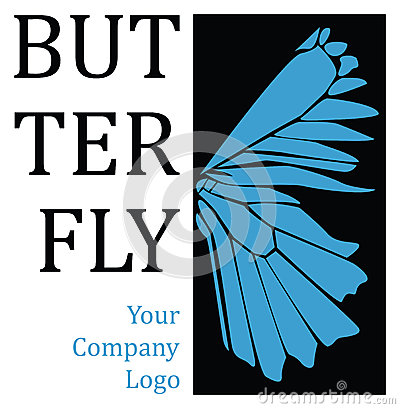 Butterfly wing logo