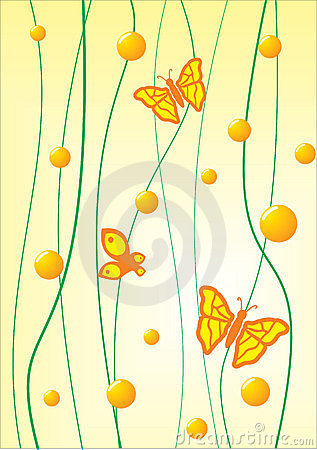 Butterfly on a yellow background