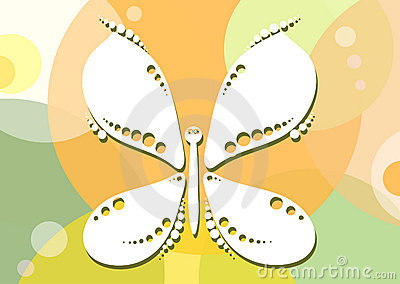 Butterfly-on-yellow-green-background
