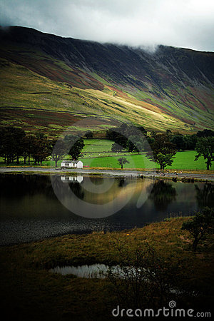 Buttermere Lake in Autumn