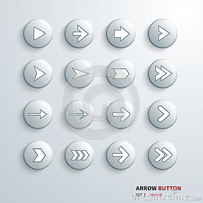 Button arrow sign icon set