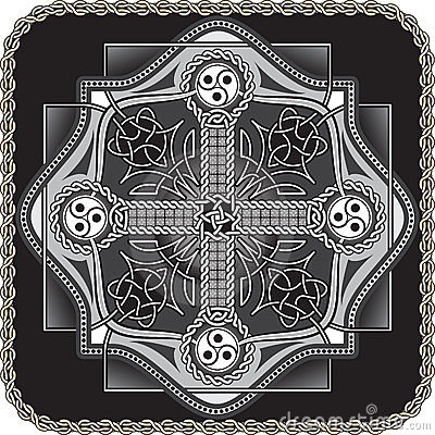 Button in celtic style