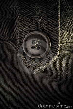 Button on clothes - fashion concept