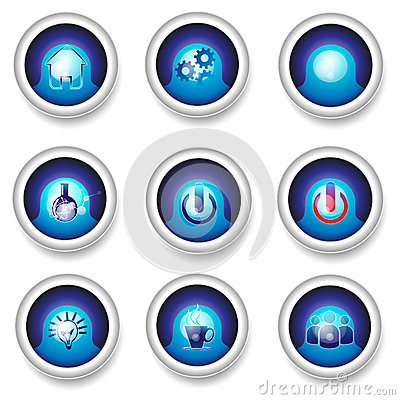 Button designs icons