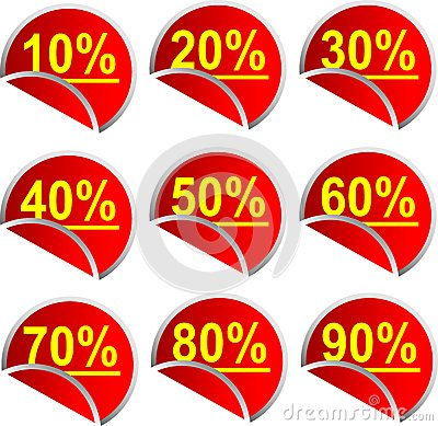 Button Discount percentages