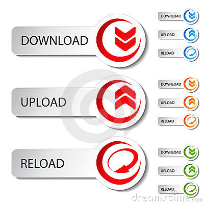 Free Button - Download, Reload, Upload Royalty Free Stock Photo - 24227265