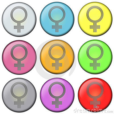 Free Button - Female Stock Photography - 152042