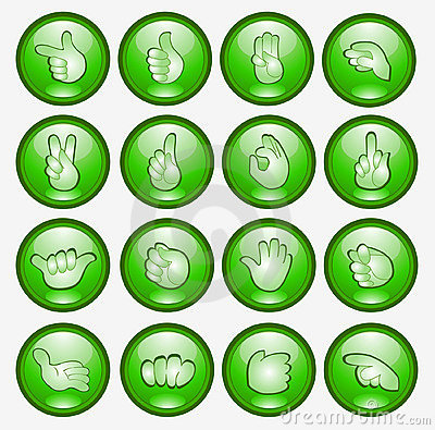 Button finger hand icon web symbol