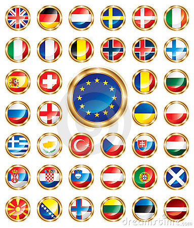 Button flags set European