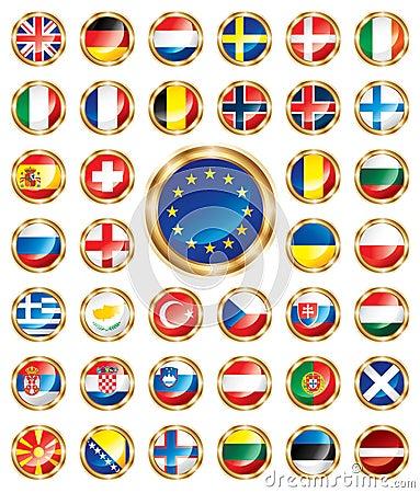 Button flags set European