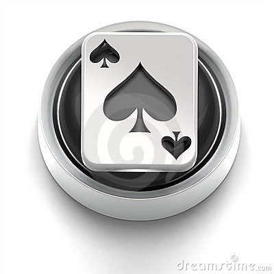 Button Icon: Ace of Spades