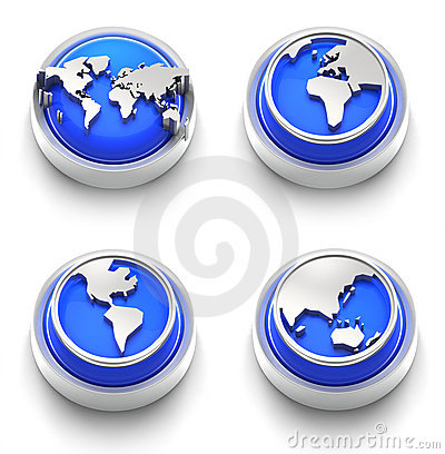 Button Icon: Blue World